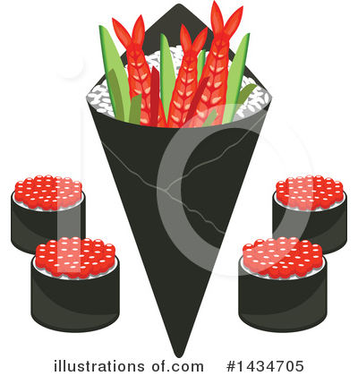 Sushi Clipart #1434705 by Vector Tradition SM