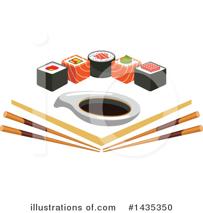 Sushi Clipart #1435350 by Vector Tradition SM
