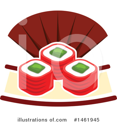 Sushi Clipart #1461945 by Vector Tradition SM