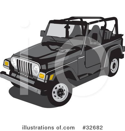 Jeep Clipart #32682 by David Rey