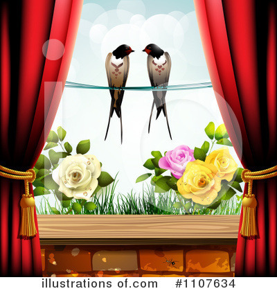 Love Birds Clipart #1107634 by merlinul