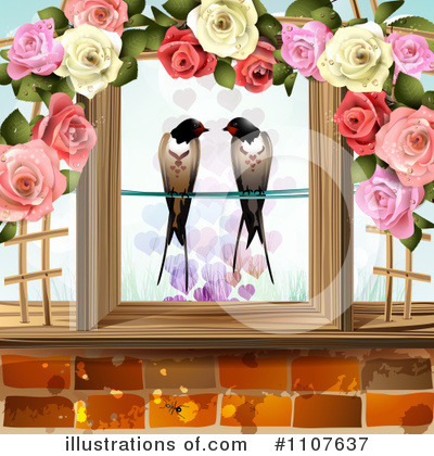 Love Birds Clipart #1107637 by merlinul