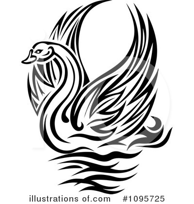 Swan Clipart #1095725 by Vector Tradition SM