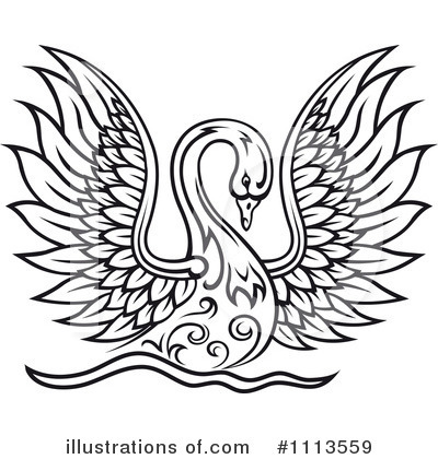 Swan Clipart #1113559 by Vector Tradition SM