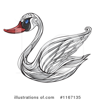 Swan Clipart #1167135 by Graphics RF
