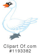 Royalty-Free (RF) Swan Clipart Illustration #1193382