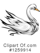 Royalty-Free (RF) Swan Clipart Illustration #1259914