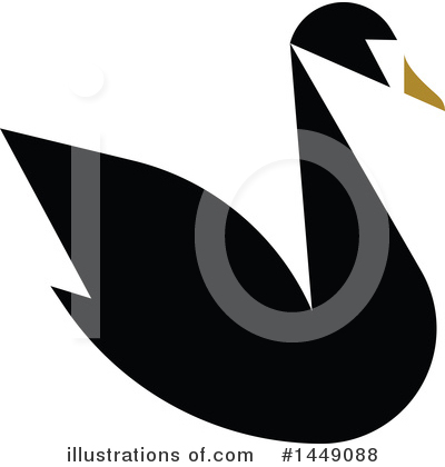 Black Swan Clipart #1449088 by elena