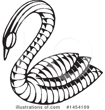 Swan Clipart #1454109 by cidepix