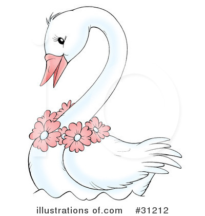 Swan Clipart #31212 by Alex Bannykh