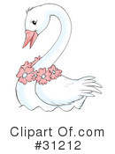 Royalty-Free (RF) Swan Clipart Illustration #31212