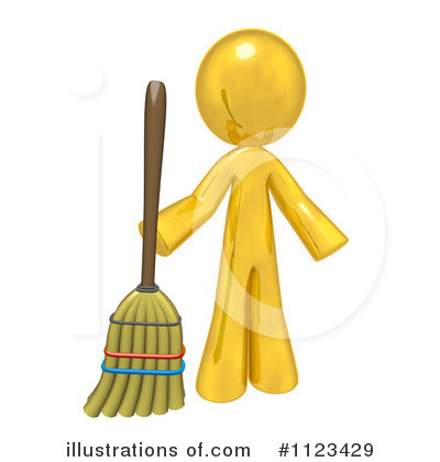 Gold Man Clipart #1123429 by Leo Blanchette