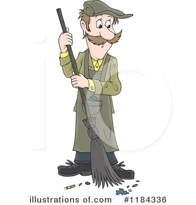 Royalty-Free (RF) Sweeping Clipart Illustration by Alex Bannykh - Stock Sample #1184336