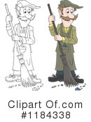 Royalty-Free (RF) Sweeping Clipart Illustration #1184338