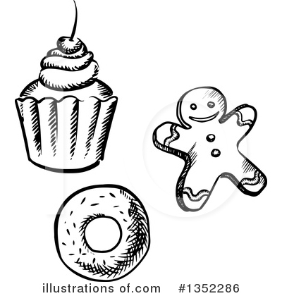 Gingerbread Clipart #1352286 by Vector Tradition SM