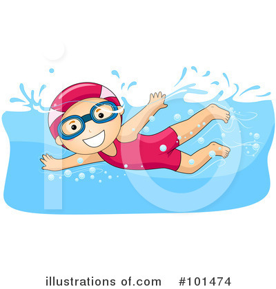 Royalty-Free (RF) Swimming Clipart Illustration by BNP Design Studio - Stock Sample #101474