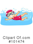 Royalty-Free (RF) swimming Clipart Illustration #101474