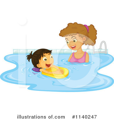 Swimming Clipart #1140247 by Graphics RF