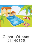 Royalty-Free (RF) Swimming Clipart Illustration #1140855