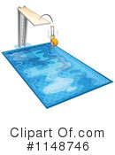 Royalty-Free (RF) Swimming Clipart Illustration #1148746