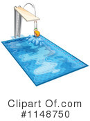 Royalty-Free (RF) Swimming Clipart Illustration #1148750