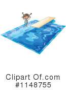 Royalty-Free (RF) Swimming Clipart Illustration #1148755