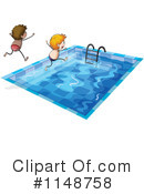 Royalty-Free (RF) Swimming Clipart Illustration #1148758