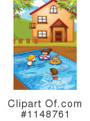 Royalty-Free (RF) Swimming Clipart Illustration #1148761