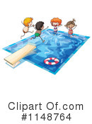 Royalty-Free (RF) Swimming Clipart Illustration #1148764