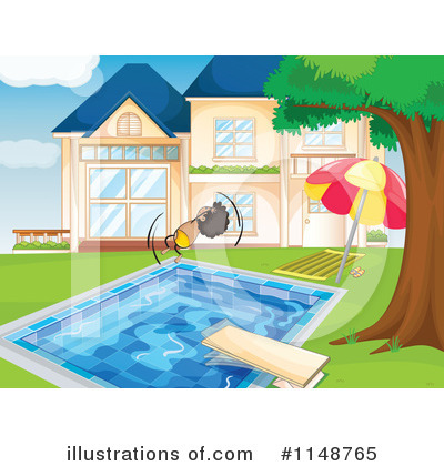 Royalty-Free (RF) Swimming Clipart Illustration by Graphics RF - Stock Sample #1148765