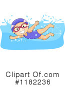 Royalty-Free (RF) swimming Clipart Illustration #1182236