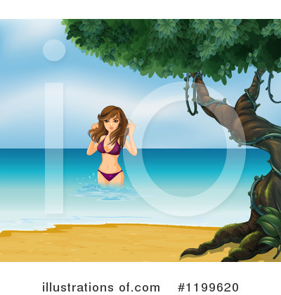 Beach Woman Clipart #1199620 by Graphics RF