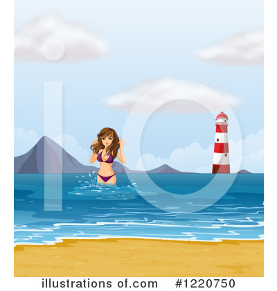 Beach Woman Clipart #1220750 by Graphics RF