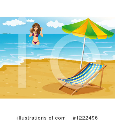 Beach Woman Clipart #1222496 by Graphics RF