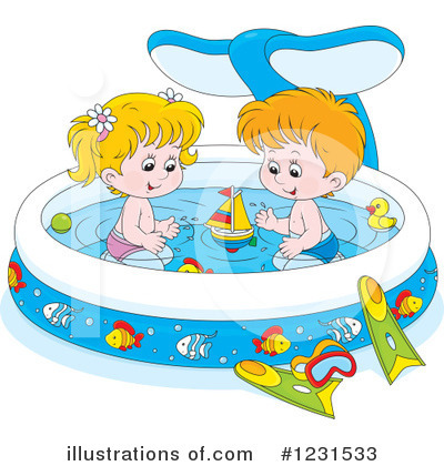 Royalty-Free (RF) Swimming Clipart Illustration by Alex Bannykh - Stock Sample #1231533