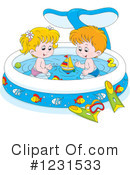 Royalty-Free (RF) Swimming Clipart Illustration #1231533