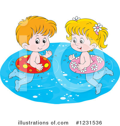 Swimming Clipart #1231536 by Alex Bannykh
