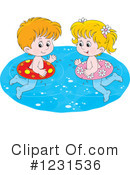 Royalty-Free (RF) Swimming Clipart Illustration #1231536