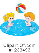 Royalty-Free (RF) Swimming Clipart Illustration #1233493