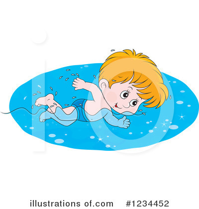 Swimming Clipart #1234452 by Alex Bannykh