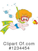 Royalty-Free (RF) Swimming Clipart Illustration #1234454