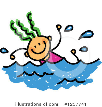 Royalty-Free (RF) Swimming Clipart Illustration by Prawny - Stock Sample #1257741