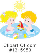 Royalty-Free (RF) Swimming Clipart Illustration #1315950