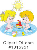 Royalty-Free (RF) Swimming Clipart Illustration #1315951