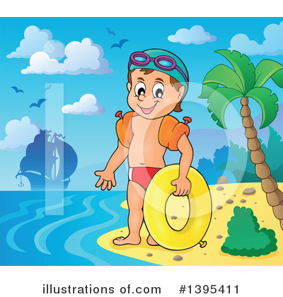 Swimming Clipart #1395411 by visekart