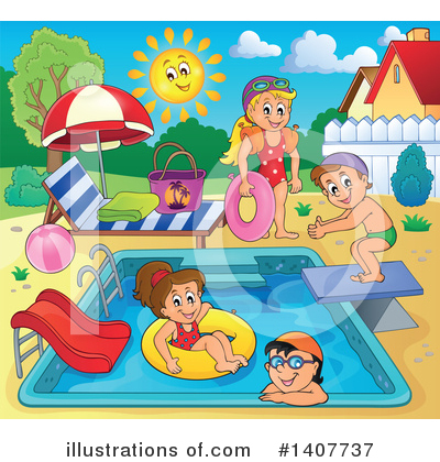 Swimming Clipart #1407737 by visekart