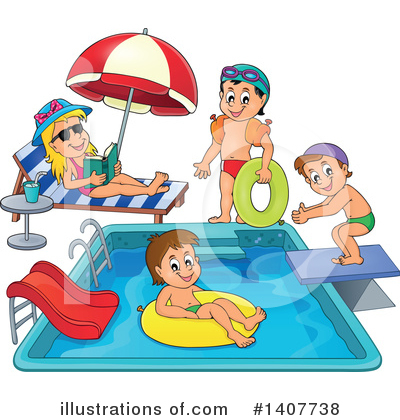 Swimming Clipart #1407738 by visekart
