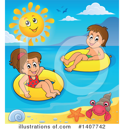 Swimming Clipart #1407742 by visekart