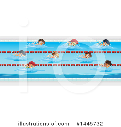 Swimming Clipart #1445732 by Graphics RF