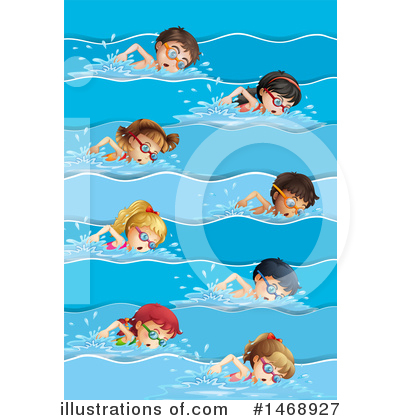 Swimming Clipart #1468927 by Graphics RF